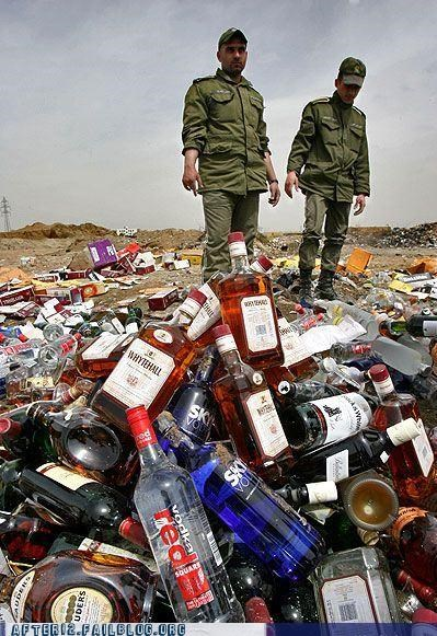 alcohol iran smash spill tragedy