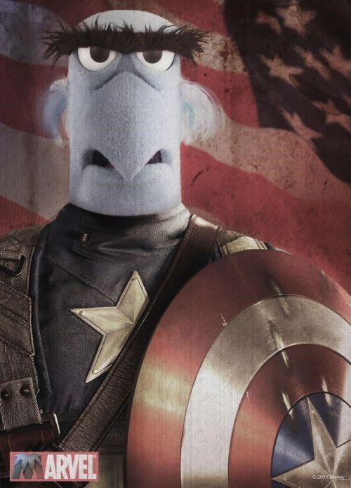 captain america,movies,muppets,poster,Sam the Eagle