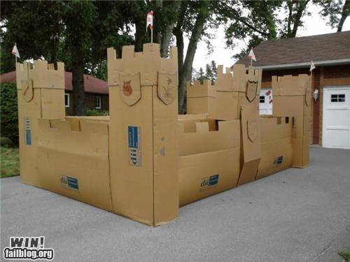 cardboard castle DIY fort fortress suburbia - 5003458048