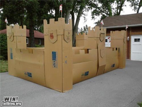 cardboard castle DIY fort fortress suburbia - 5003458048