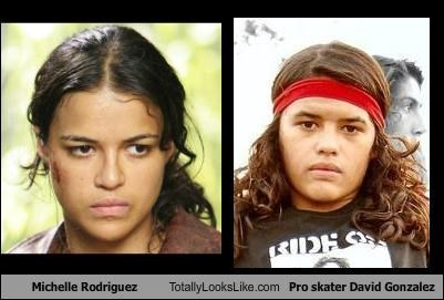 Michelle Rodriguez Totally Looks Like Pro skater David Gonzalez