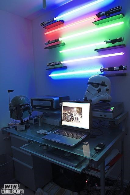 command center,desk pics,nerd,star wars