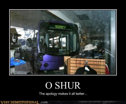 accident,apology,bus,hilarious,sorry