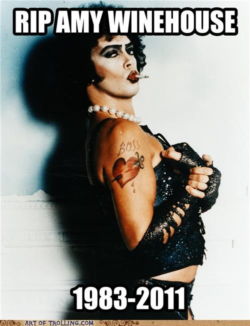 amy winehouse dr frankenfurter misquotes rhps rip - 5005081088