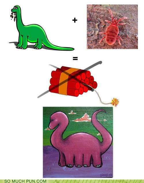 dino double meaning dynamite homophones literalism mite - 5005418240