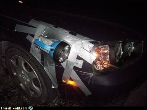 duct tape headlight holding it up wtf - 5005425920