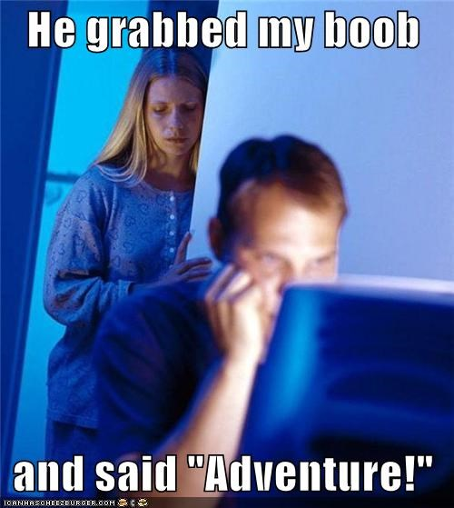 adventure boob call flying grab Internet Husband