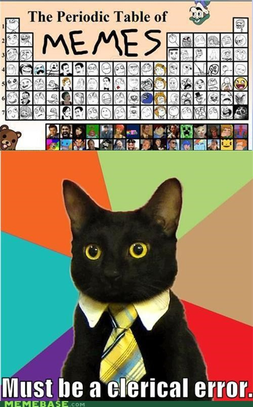 Business Cat,error,Memes,missed one,period table,Reframe