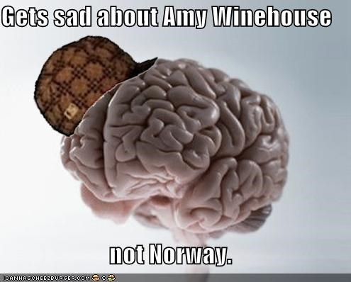 amy winehouse,brain,Norway,scumbag brain
