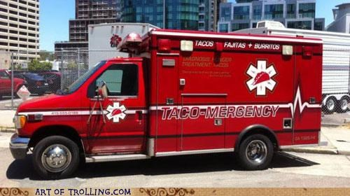 ambulance,emergency,food,IRL,taco truck,yummy
