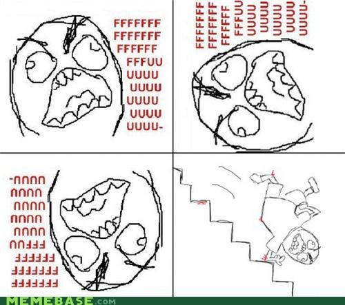 FAIL fall fu guy Rage Comics stairs steps trip - 5005849600