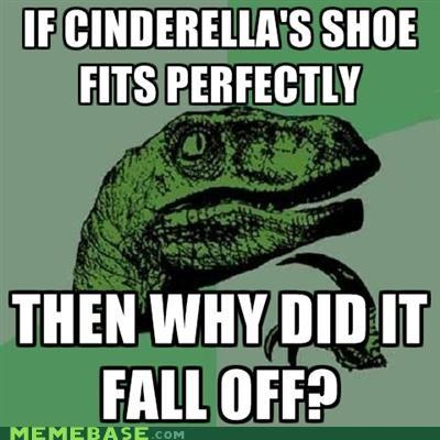 cinderella disney fairy tales fall glass philosoraptor slipper South Park - 5006032896