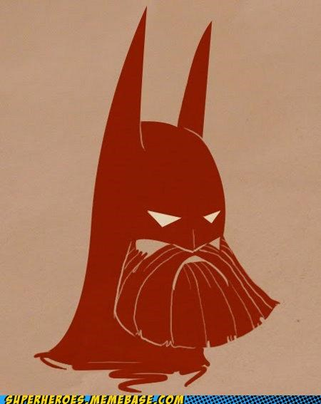 awesome,Awesome Art,batman,beard,tough