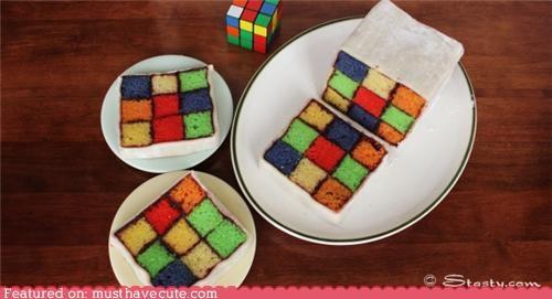 cake,epicute,grid,impressive,puzzle,rubix cube,squares