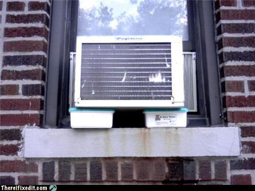 air conditioner,holding it up,list,package