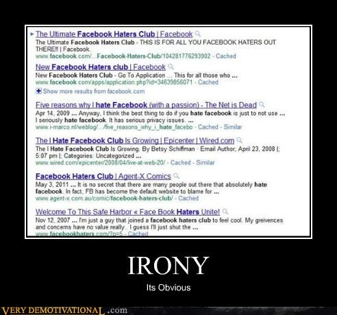 facebook hilarious irony obvious - 5006653184