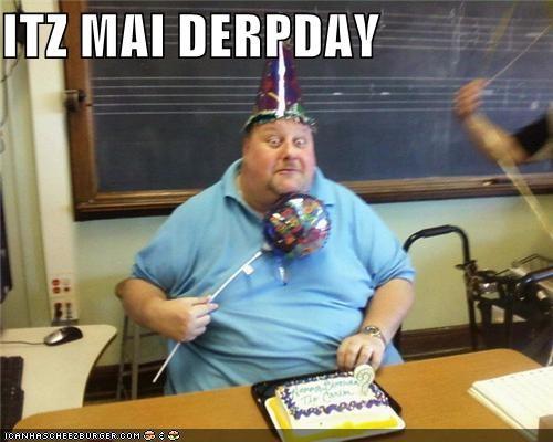balloon birthday cake derp hat - 5007528448