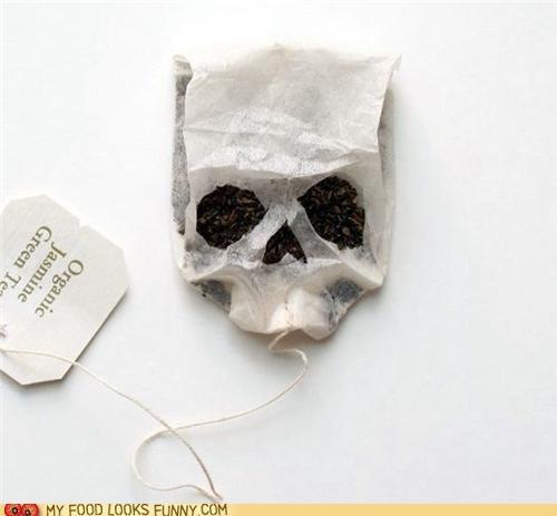 art,epicute,green tea,jasmine,skull,tea,tea bag,teabag