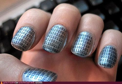binary,finger nails,tiny,wtf