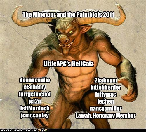 The Minotaur and the Paintblols 2011