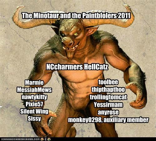 The Minotaur and the Paintblolers 2011