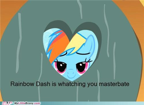 creep peep rainbow dash sexy times watch - 5008900864