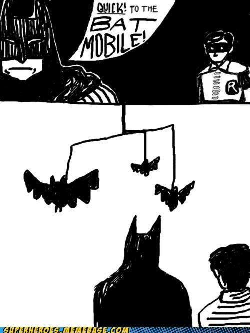 Awesome Art batman batmobile comic mobile robin - 5009271808