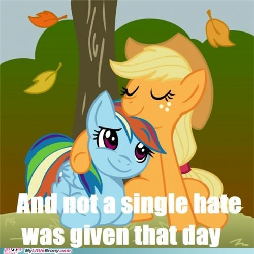 applejack,hate,how many,love,rainbow dash,tolerance