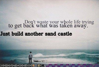 hipsterlulz Sad sand castle tide - 5009297408