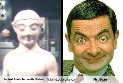 funny greek statue Hall of Fame mr-bean rowan atkinson TLL