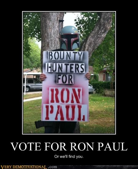 bounty hunters hilarious politics Ron Paul star wars - 5009517056