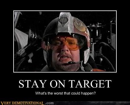 hilarious Porkins star wars stay on target