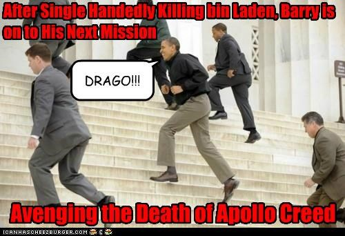 After Single Handedly Killing bin Laden, Barry is on to His Next Mission DRAGO!!! Avenging the Death of Apollo Creed
