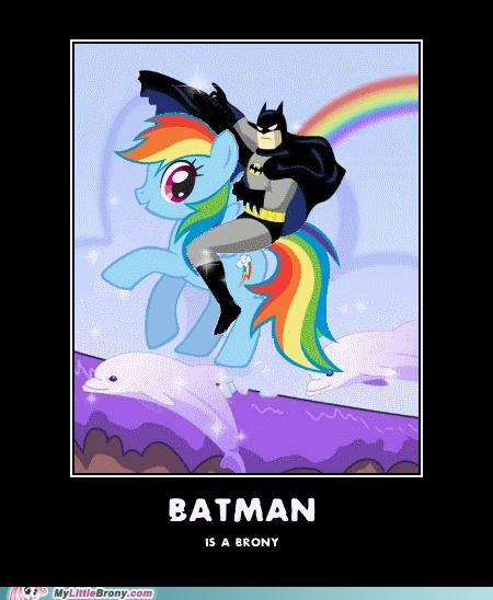 batman brony herd rainbow dash - 5010163712