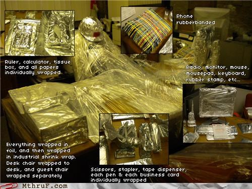 prank pranks shrink wrap vacation