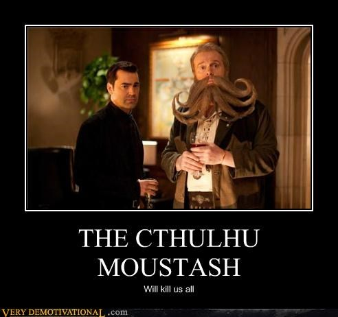 cthulhu dnagerous moustache Pure Awesome wtf - 5010487296