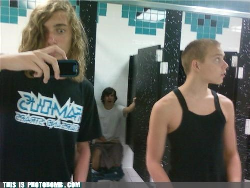 bathroom caught in the act guys mirror toilet - 5010635264