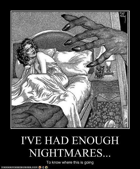 art creepy demotivational funny illustration lady nightmare - 5010668032