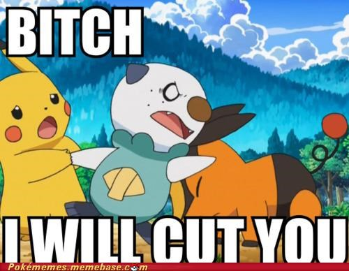 angry,cut you,oshawott,pikachu,tepig