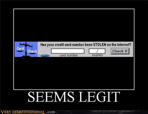 credit card Hall of Fame hilarious internet legit stolen - 5011372032