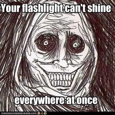 everywhere,flashlight,shadowlurker,The Shadowlurker