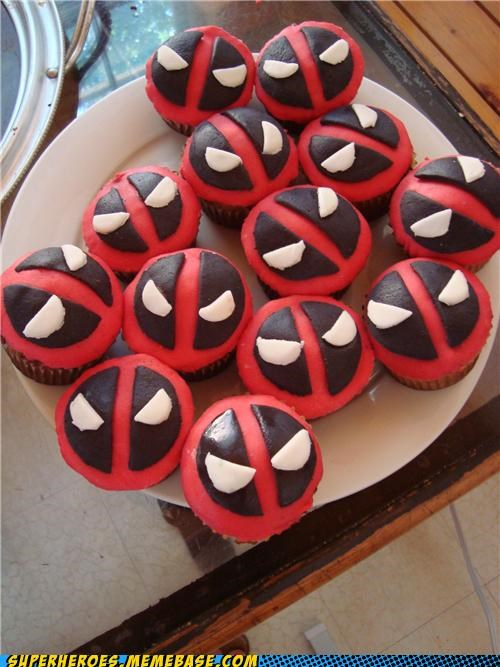cupcakes deadpool delicious food Random Heroics - 5011524864