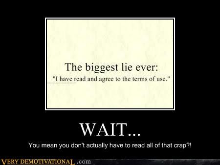 agreed crap hilarious lie ToU - 5011610624