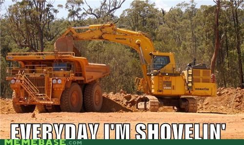 caterpillar cranes machinery Memes shoveling - 5011988992