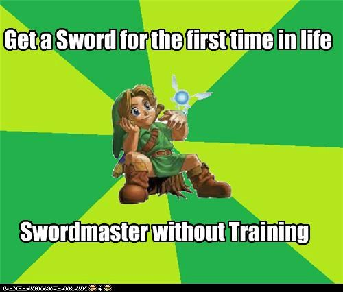 link Memes scroll sword training video games zelda - 5011998208