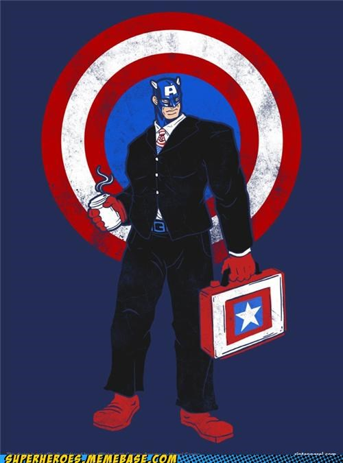 Awesome Art captain america coffee corporate wtf - 5012028416