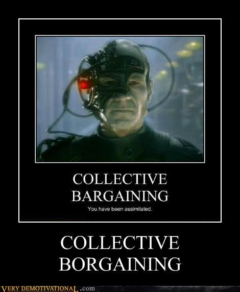 bargaining,borg,hilarious,pun,Star Trek