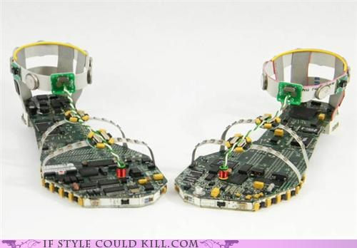 computer crazy shoes geek chic sandals - 5012096256