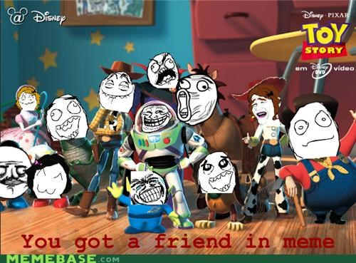 disney,friend,Rage Comics,rage faces,toy story,troll