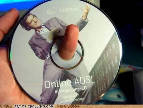 CD disk finger pinky that looks naughty - 5012160000